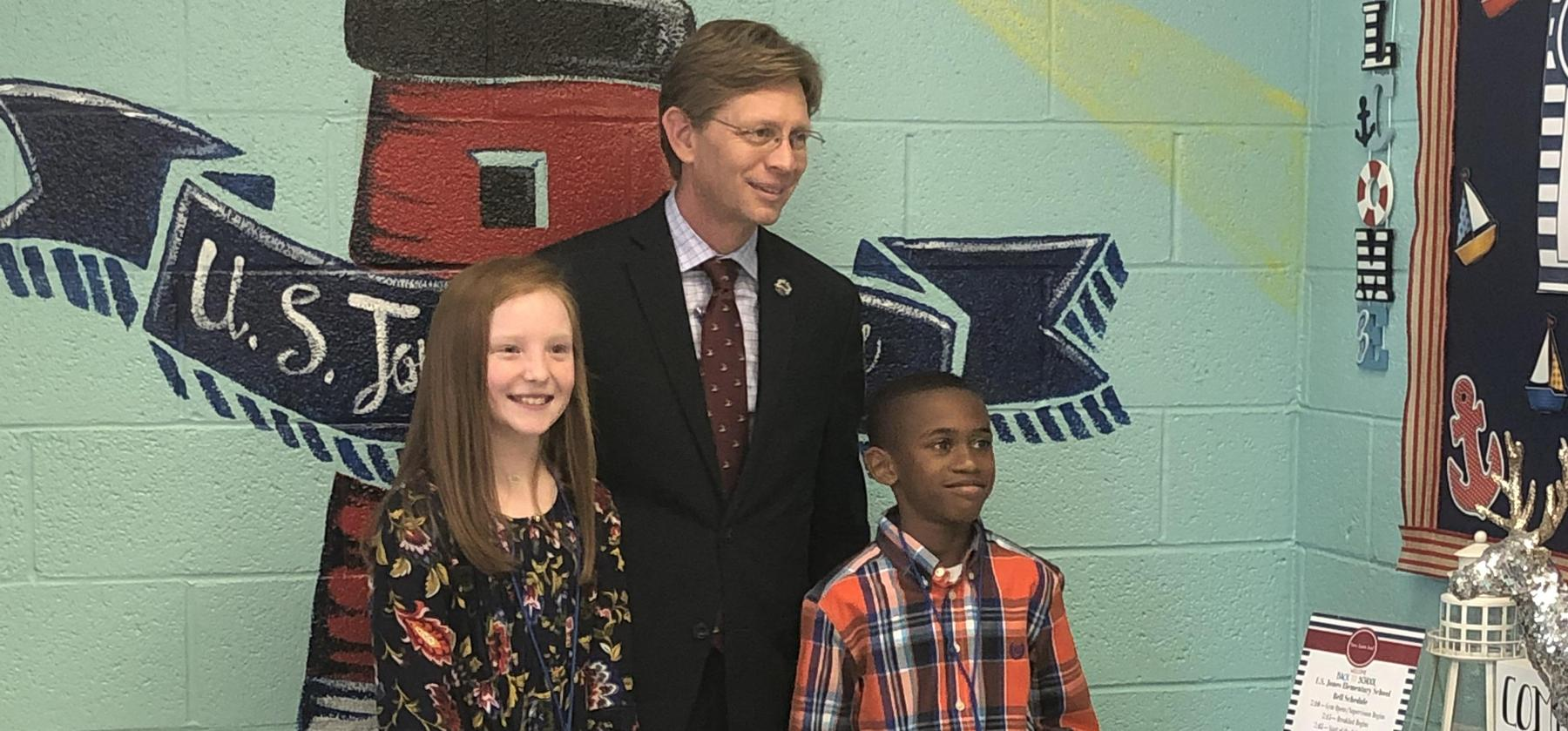 DR. Mackey and USJ Students