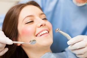 Girl at dentist