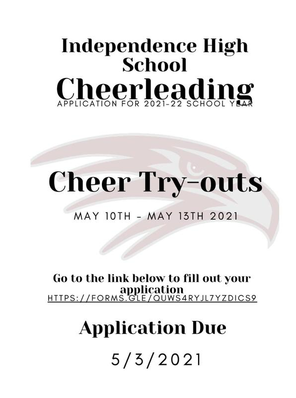 2021-22 Cheerleading Application - Due 5/3/21 Thumbnail Image