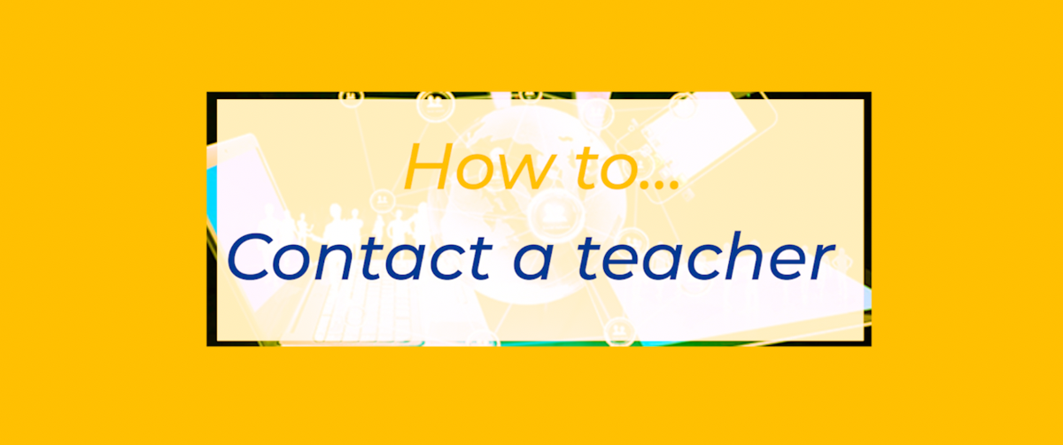 How to contact teachers