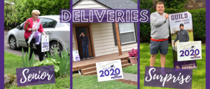 Collage of senior deliveries