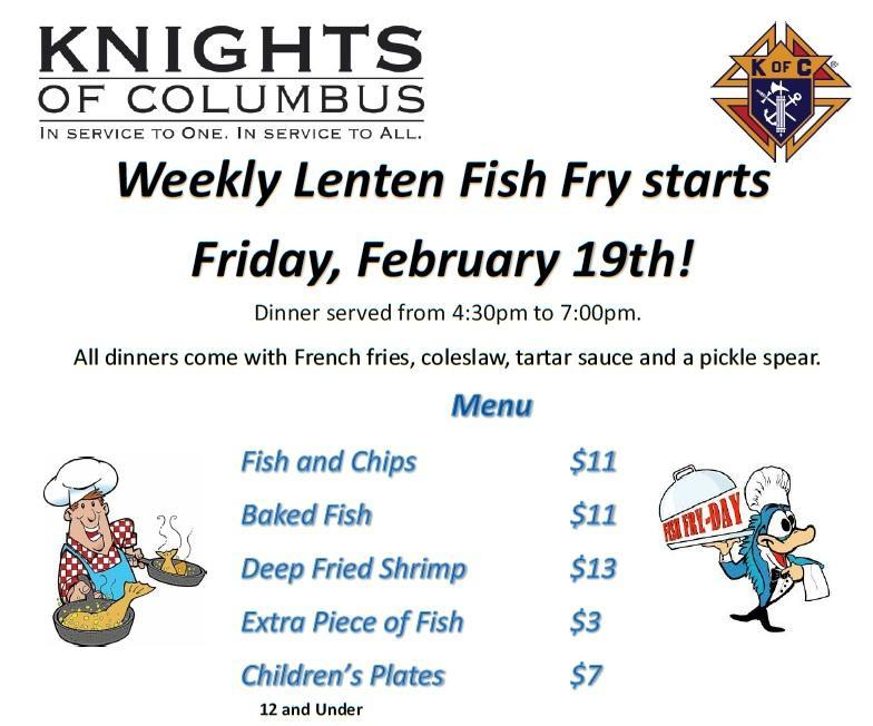 Weekly Lenten Fish Fry Featured Photo