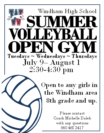 WHS Summer Volleyball Open Gym Thumbnail Image