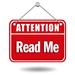Attention - Read Me