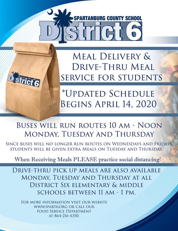 D6 Meal schedule update