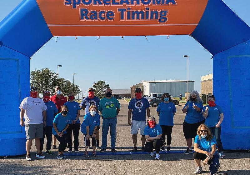 GCTC staff volunteers at the Rocket Man Run.