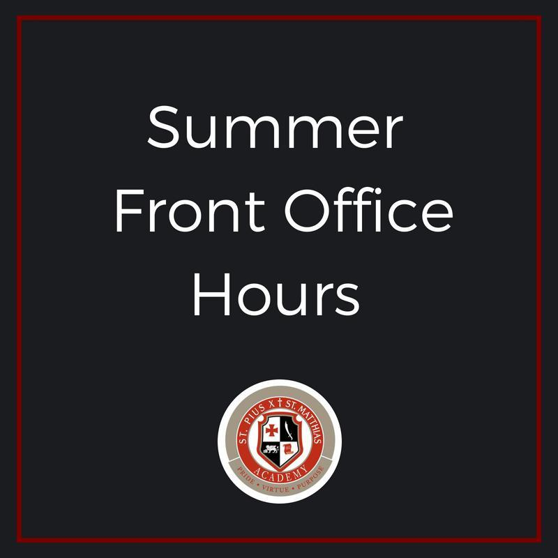 Summer Front Office Hours Thumbnail Image