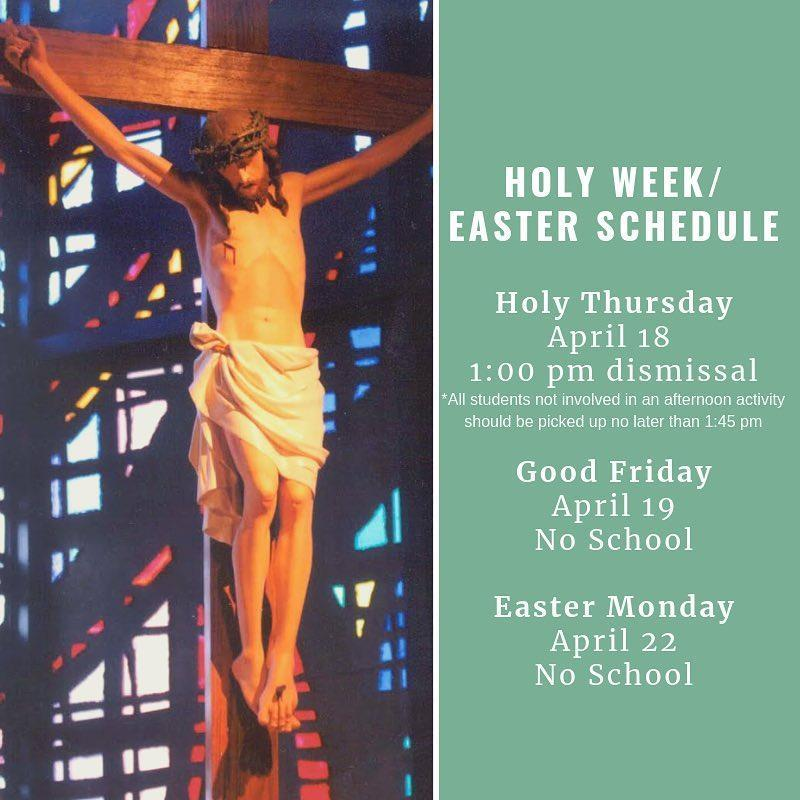 Holy Week/Easter Schedule Featured Photo