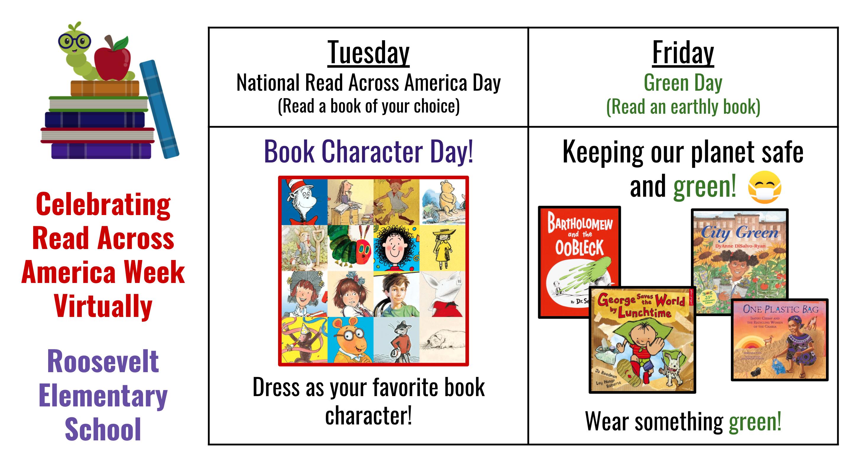 Roosevelt School's Read Across America Week Virtual Activities