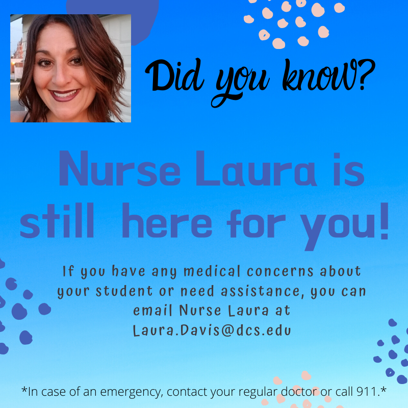 Nurse Laura is ready to assist your medical concerns and questions! Featured Photo