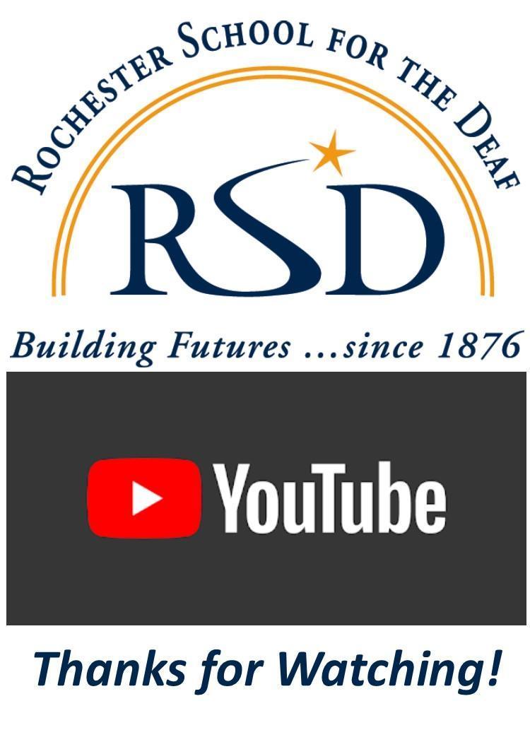 RSD You Tube Logo