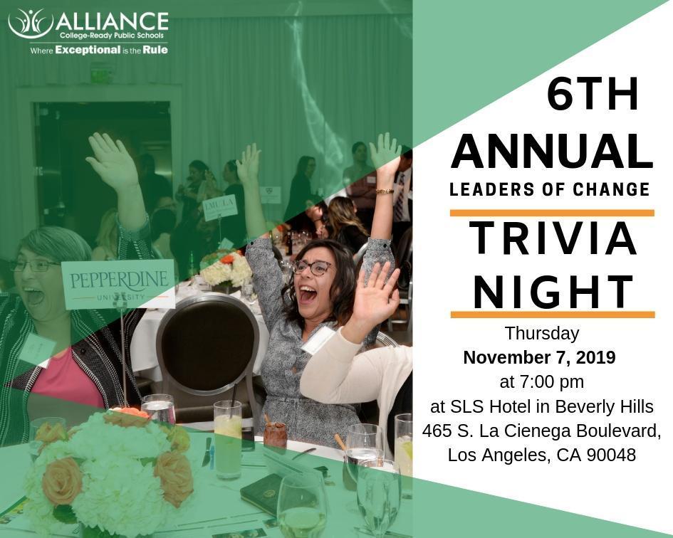 6th Annual Trivia Night Invitation