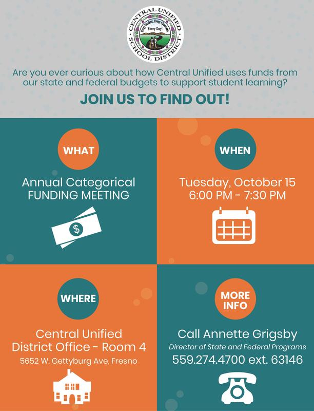 Categorical Funding Meeting Flyer