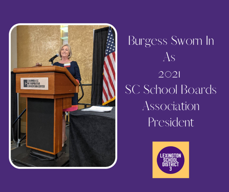 Burgess Sworn In As 2021 SC School Boards Association President
