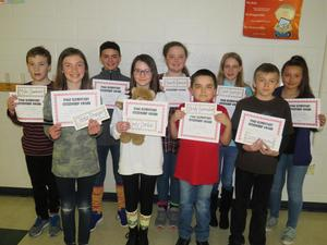 Fifth-grade students were honored after being voted on by classmates to receive recognition for fairness.