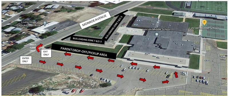 Lincoln Middle School - New Parent Drop Off & Bus Loading Areas effective Feb. 15th Featured Photo
