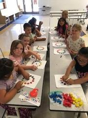 Students in Ibapah learn about the color wheel