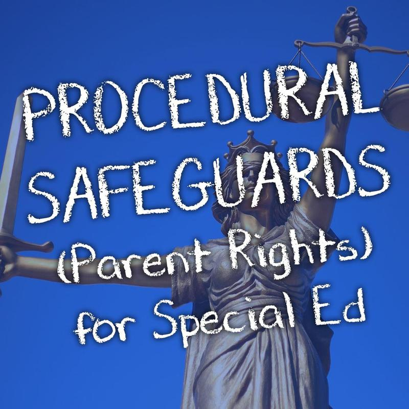 Procedural Safeguards Text for SPED