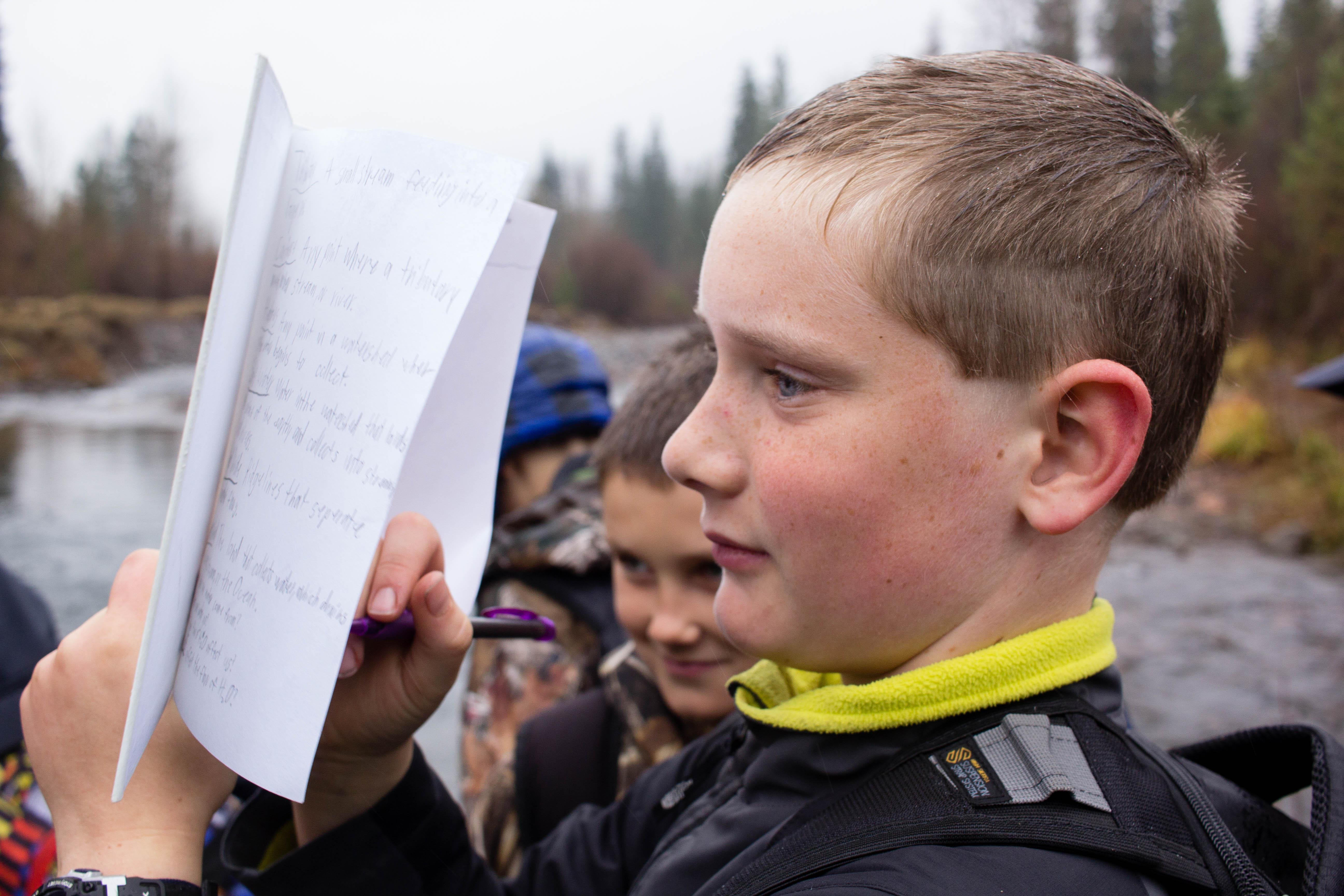 student nature journaling