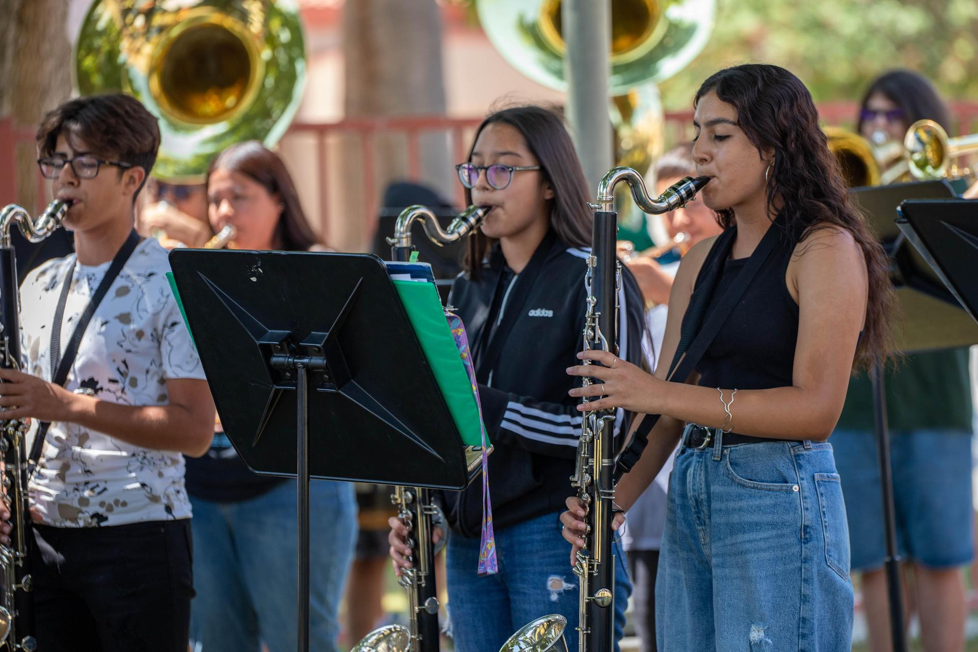 Band Performing at Welcome Back Rally