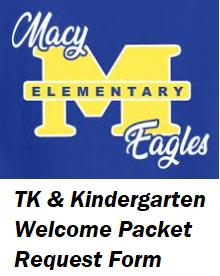MACY TK & Kindergarten Welcome Packet Featured Photo