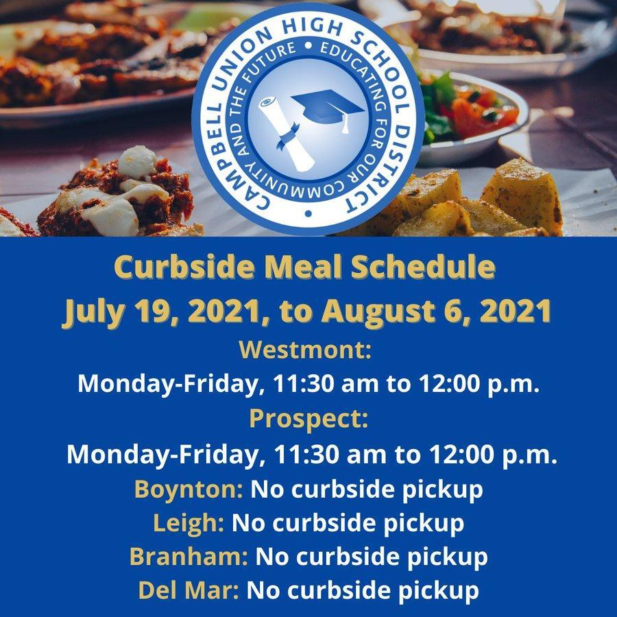 cuhsd free meals in summer 2021