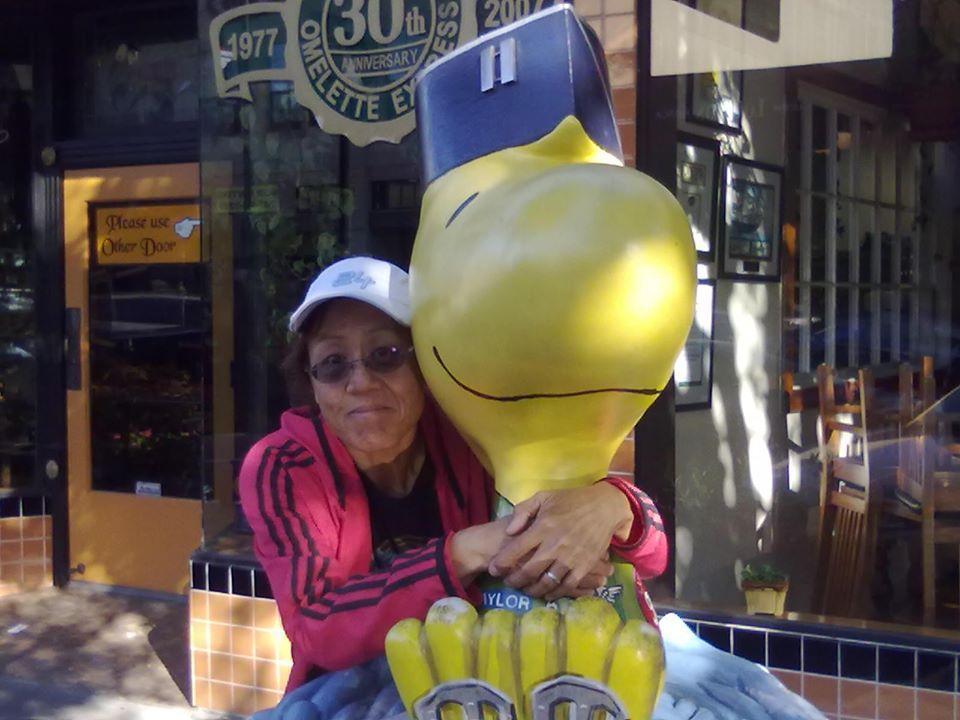 Me at the Charles Schultz Museum in Santa Rosa, CA
