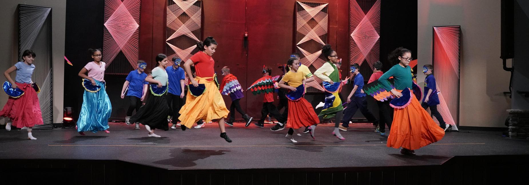 Students dance