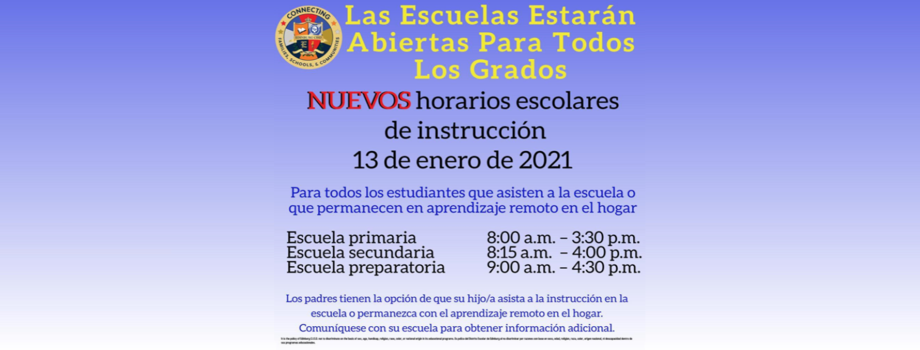 Open to all Grades - Spanish