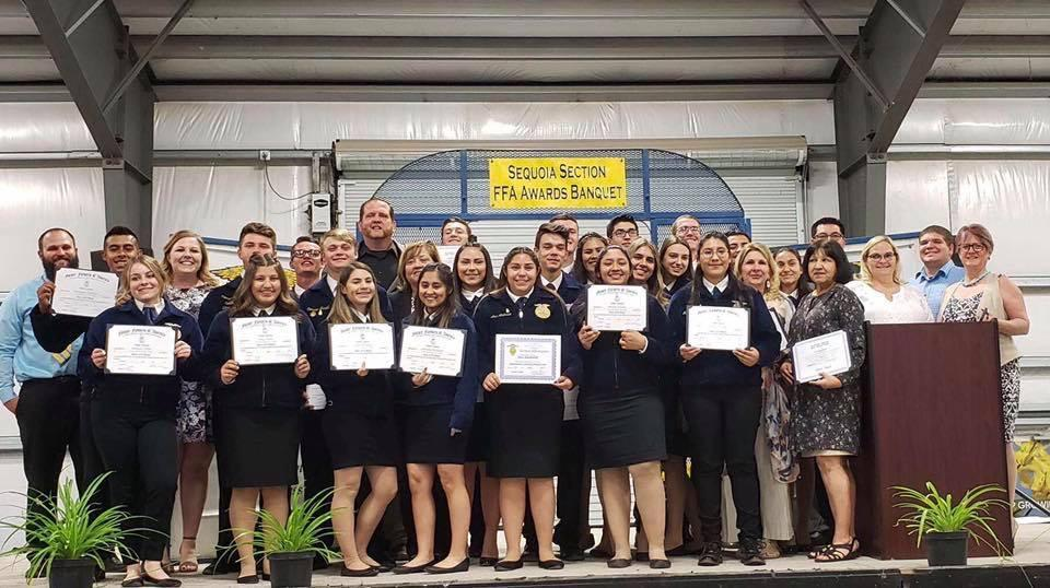 Photo of Students, Teachers, Administrators, and Support State recognized at the Sequoia Section State Degree and Awards Banquet