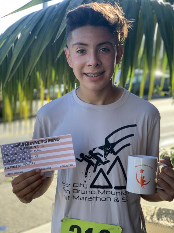 Christian Rodriguez (8th Grade) finishes 1st place in the Brisbane 5K Race! Thumbnail Image