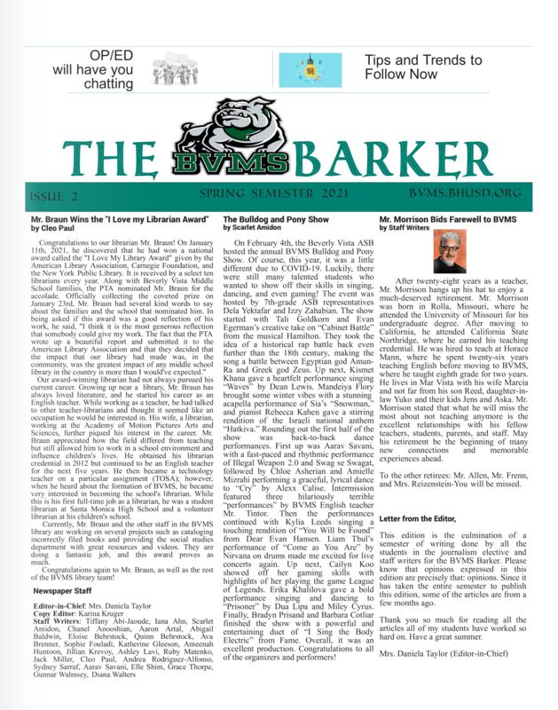 BVMS Bulldog Barker Featured Photo