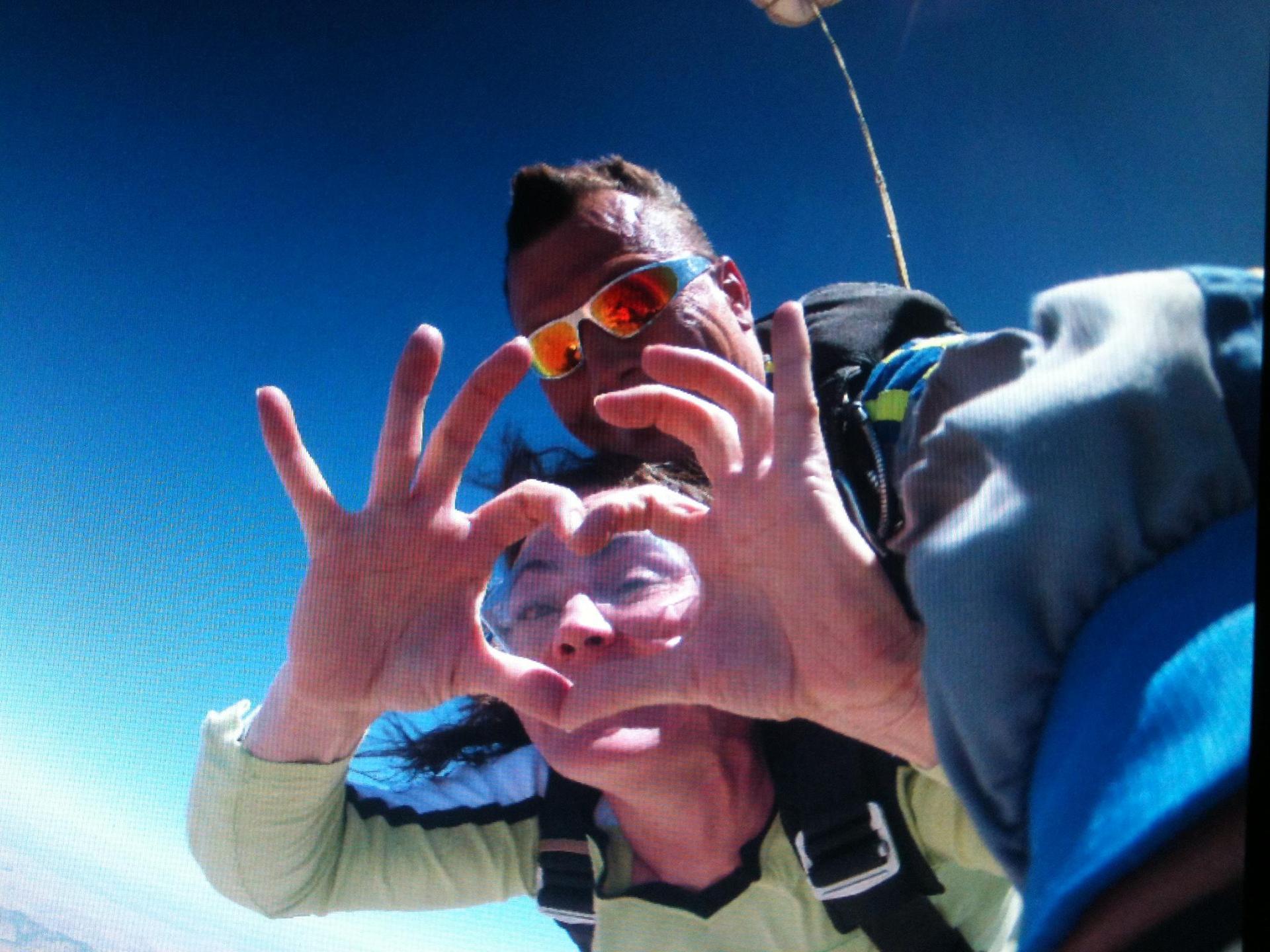 Mrs. Gregory Sky-diving!