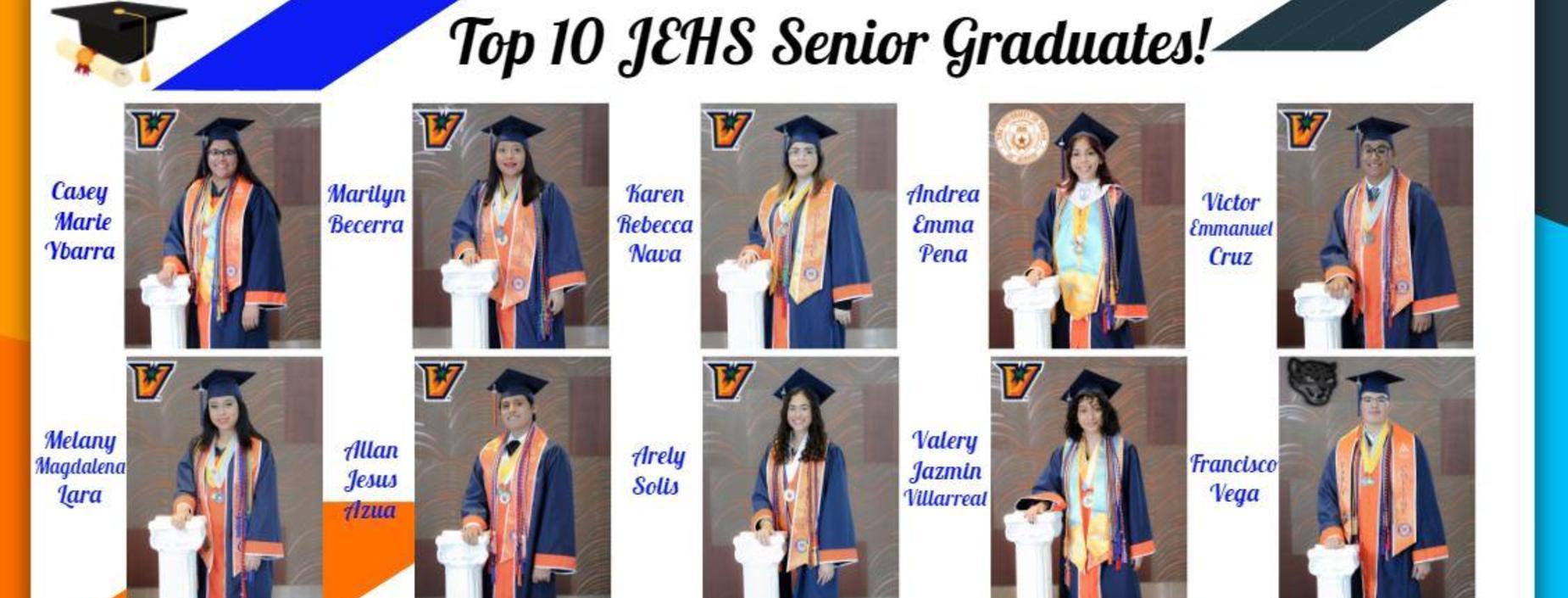 JEHS TOP 10 GRADUATES 2021