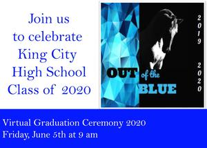 flyer in English for Virtual Graduation