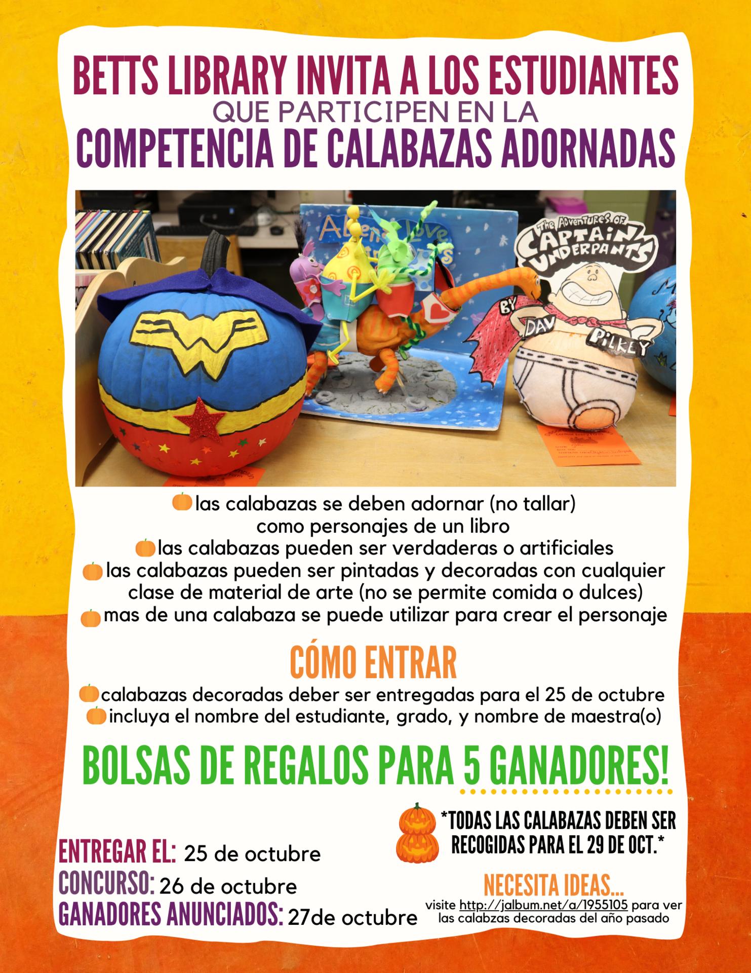 Image of pumpkin contest flyer (spanish)