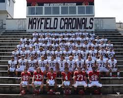 Picture of 2020 Mayfield Cardinal Football Players at Stadium