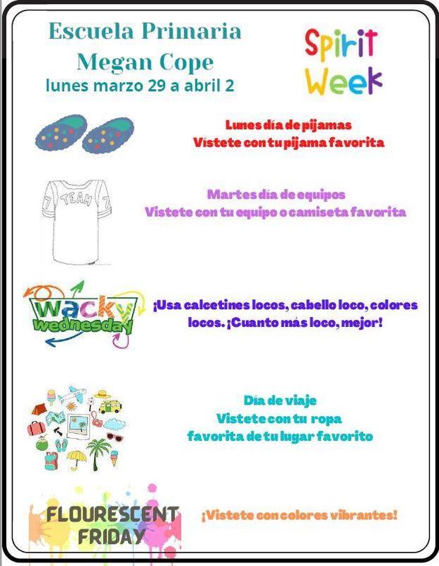 Spirit Week in Spanish