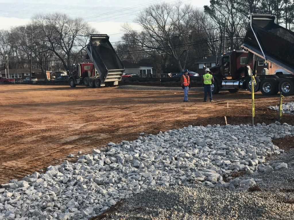Construction January 2017; Annex parking lot