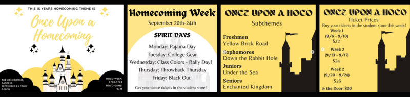 homecoming events september 2021
