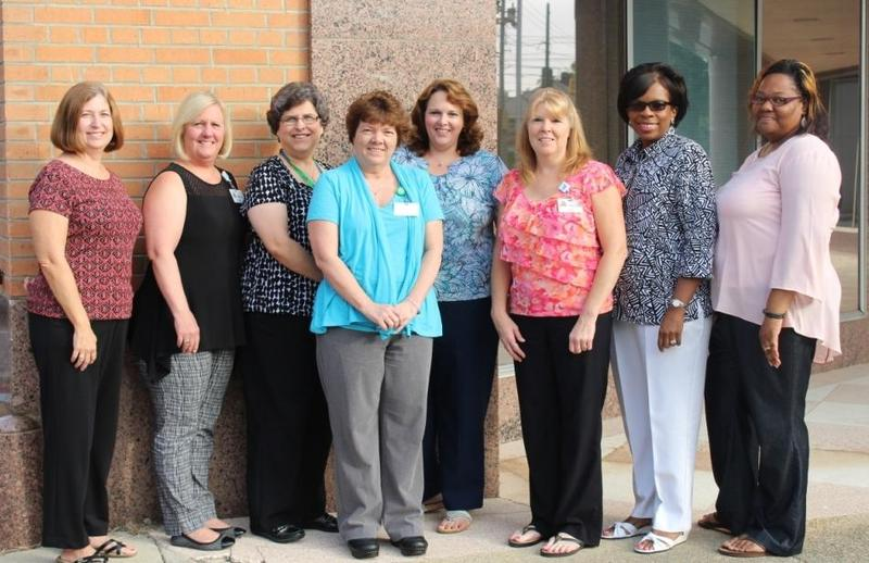 (from left): Kim Vick, Martha Proffitt, Kim Edmundson, JoAnn Rollins, Rene Evans, Belinda Byrd, Florence James and Wanda Dudley.