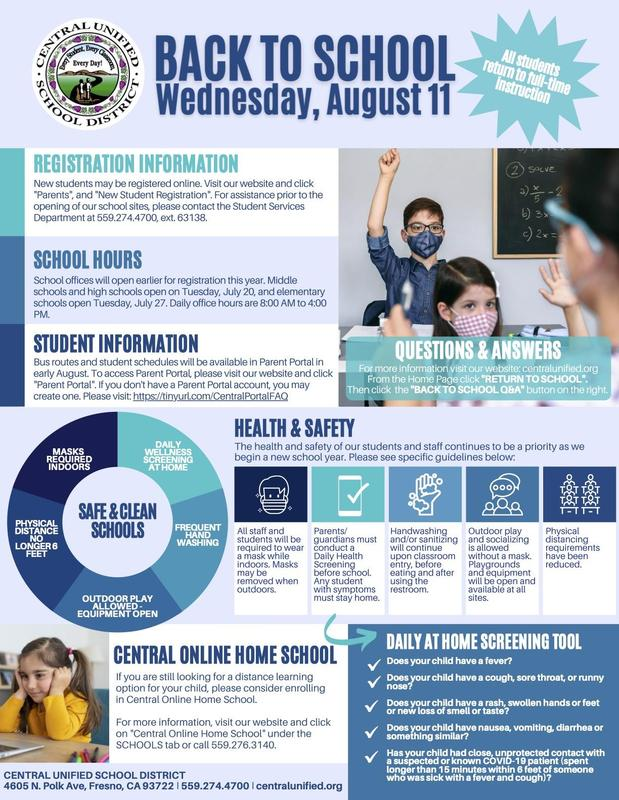 Back to school, August 11th