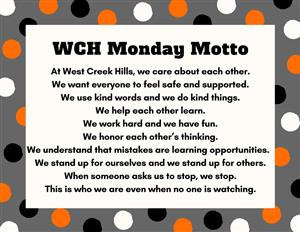 WCH Monday Motto