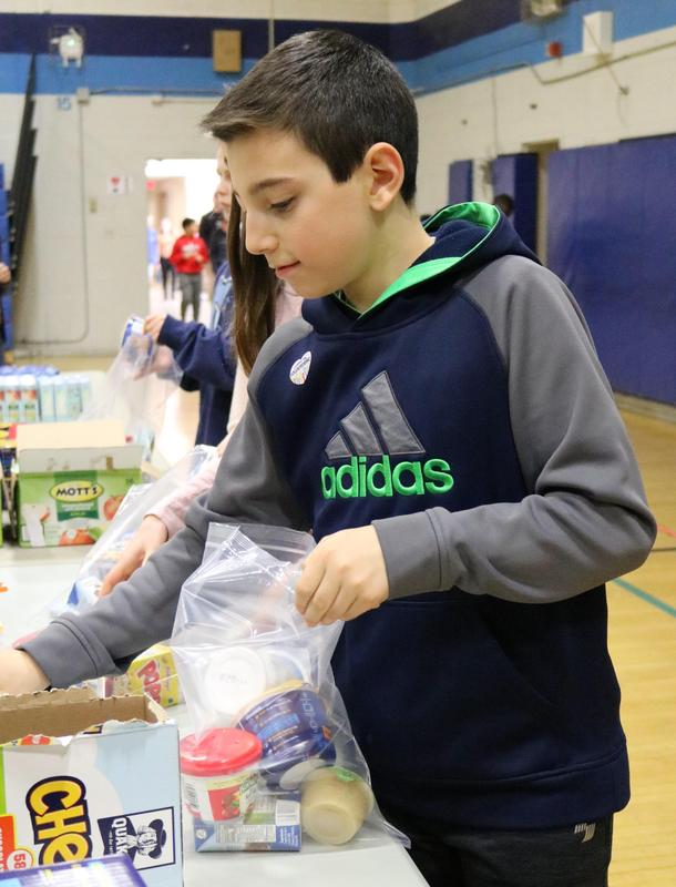Student participates in Community Service Week at RIS.