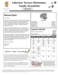 Screenshot of the front page of the newsletter