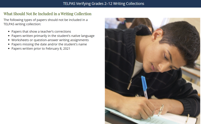 Telpas writing collections and verification programs start on February 2021 Thumbnail Image