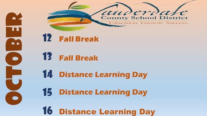 Fall Break Calendar Graphic