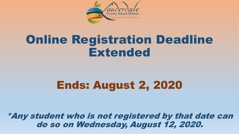 LCSD Online Registration Deadline Extended Graphic