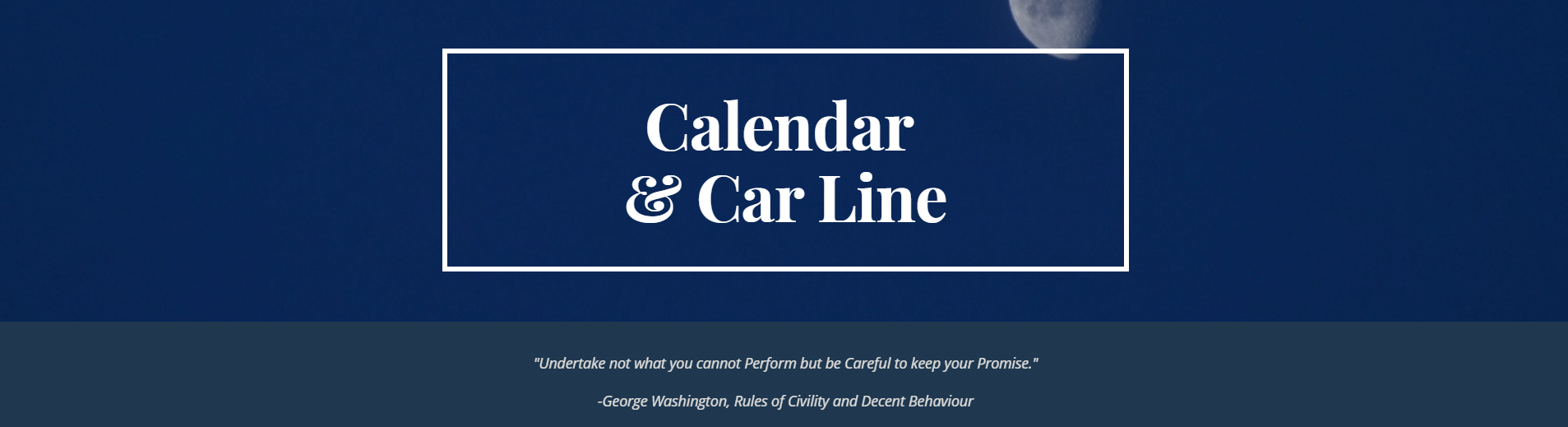 calendar heading