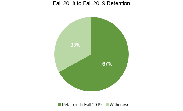 Fall 2018 to Fall 2019 Retention